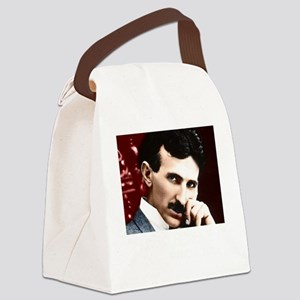 Tesla_white Canvas Lunch Bag