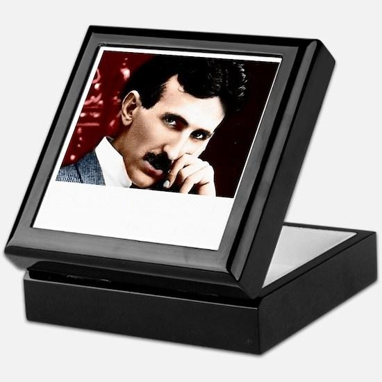 Tesla_white Keepsake Box