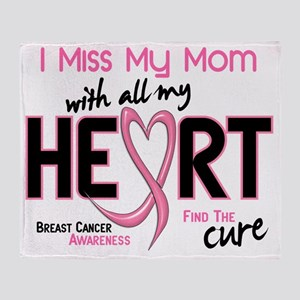 - Miss With All My Heart Mom Breast  Throw Blanket