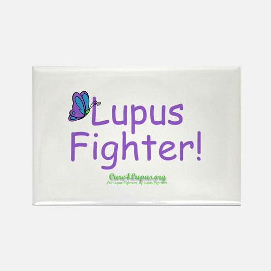 Lupus Fighter Rectangle Magnet