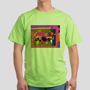 I LOVE SEAHORSES fave pet Green T-Shirt