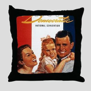 ART 1956 Democratic convention Throw Pillow