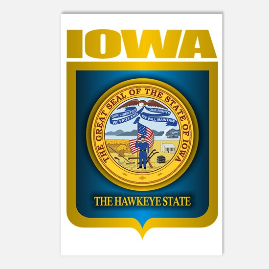 Iowa (Gold Label) Postcards (Package of 8)