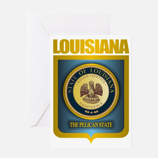 Louisiana (Gold Label) Greeting Card