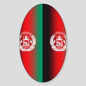 FlipFlopTemplateAfghan2 Sticker (Oval)
