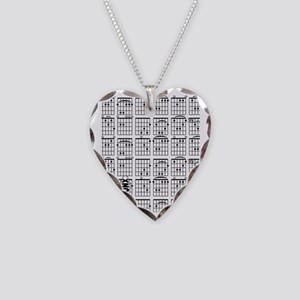 GuitarTabs Necklace Heart Charm