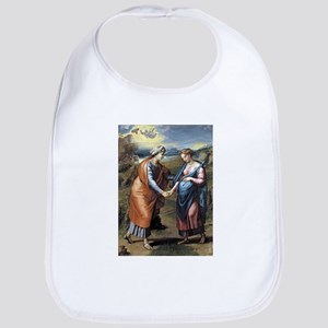 The visitation - Raphael Cotton Baby Bib