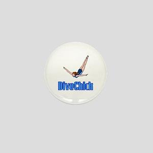 DiveChick Logo Mini Button