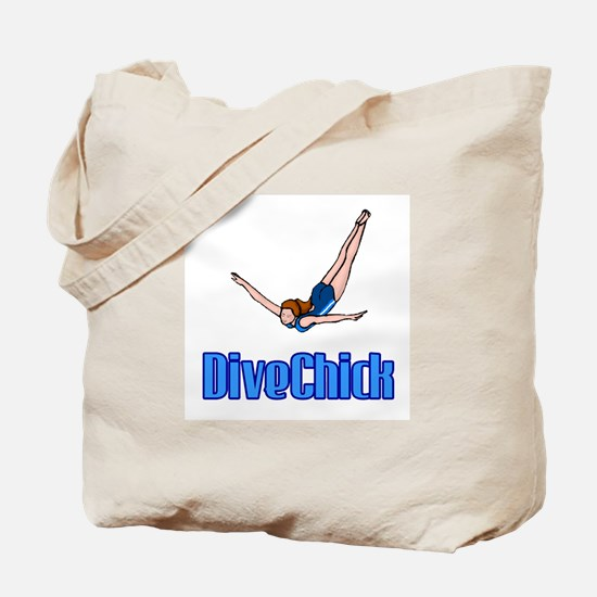 DiveChick Logo Tote Bag