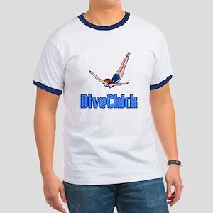 DiveChick Logo Ringer T