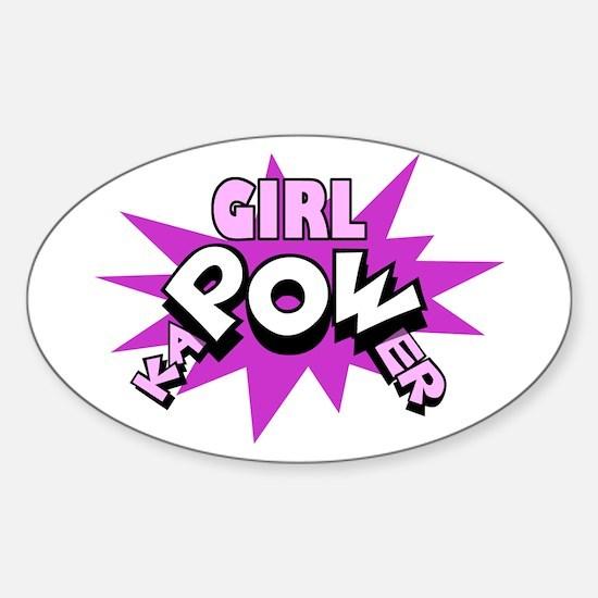 Girl kaPOWer! Oval Decal