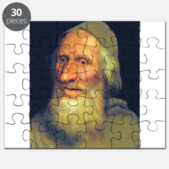 Head of an Old Man- Quinten Massys - c 1525 Puzzle