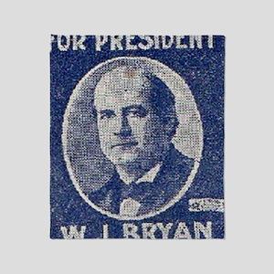 ART WJ BRYAN for PRESIDENT Throw Blanket