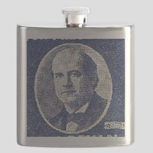 ART WJ BRYAN for PRESIDENT Flask