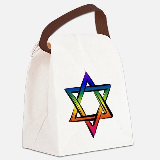 LGBT Star Of David Canvas Lunch Bag