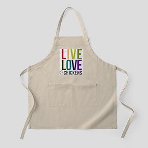 live love chickens04 Apron