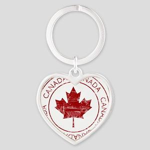 vintageCanada5 Heart Keychain