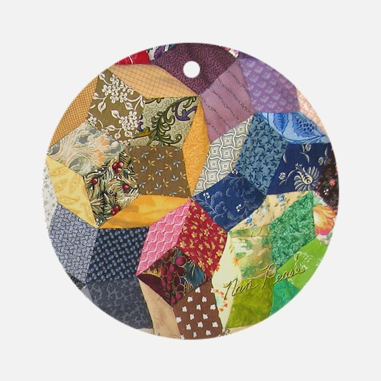 Quilt two_Tile Round Ornament