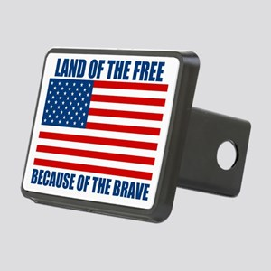 BECAUSEOFTHEBRAVE Rectangular Hitch Cover