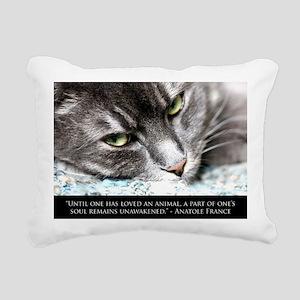 cat_soul_awakening_sq Rectangular Canvas Pillow