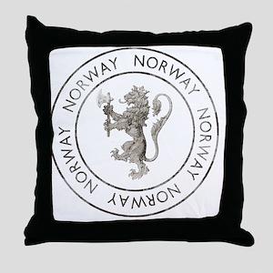 vintageNorway7 Throw Pillow