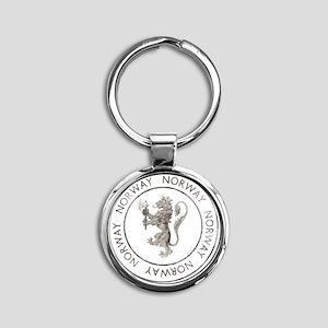 vintageNorway7 Round Keychain