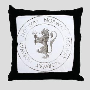 vintageNorway7Bk Throw Pillow