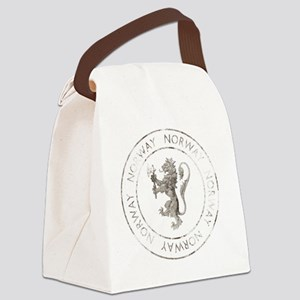 vintageNorway7Bk Canvas Lunch Bag