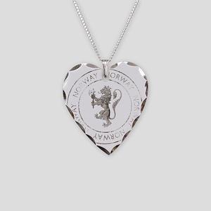 vintageNorway7Bk Necklace Heart Charm