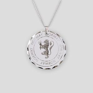 vintageNorway7Bk Necklace Circle Charm