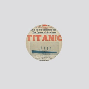 Titanic Ad Card BIG Mini Button