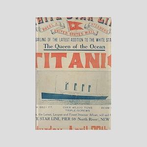 Titanic Ad Card BIG Rectangle Magnet