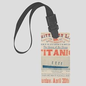 Titanic Ad Card BIG Large Luggage Tag