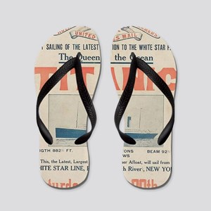Titanic Ad Card BIG Flip Flops