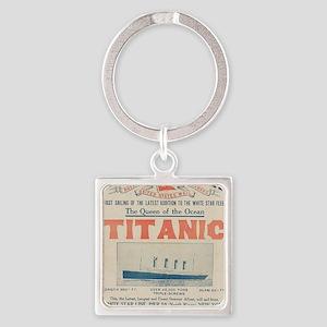 Titanic Ad Card BIG Square Keychain