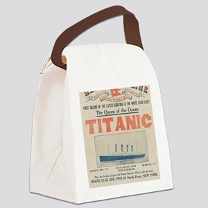 Titanic Ad Card BIG Canvas Lunch Bag