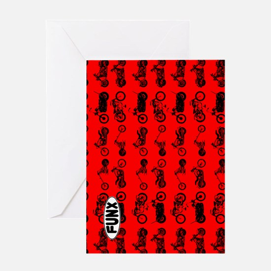 CyclesRED Greeting Card
