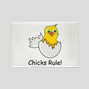 CHICKS RULE Rectangle Magnet