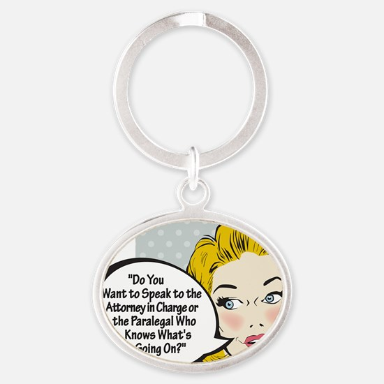 Paralegal In Charge [Comic Edition] Oval Keychain