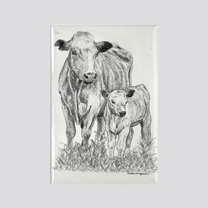 Cow & Calf Rectangle Magnet