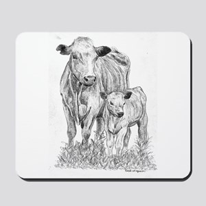 Cow & Calf  Mousepad