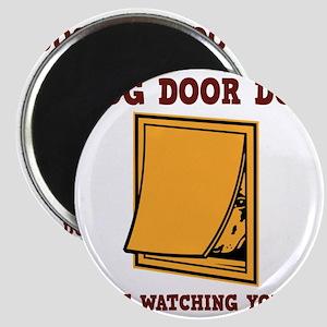 dog-door-dog-LTT Magnet