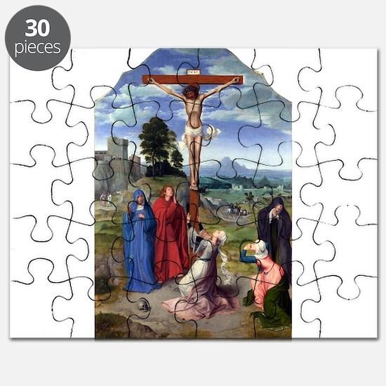 The Crucifixion - Quinten Massys - c 1520 Puzzle
