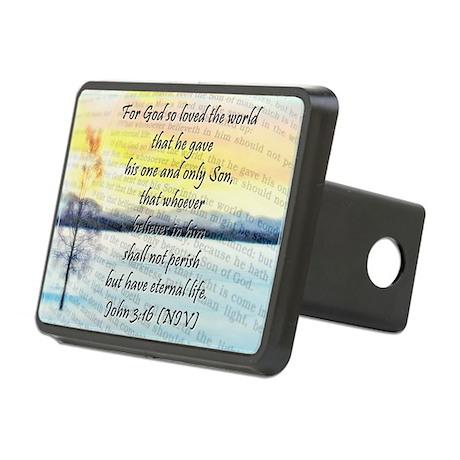 John 3:16 Rectangular Hitch Cover