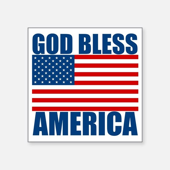 "GODBLESSAMERICA Square Sticker 3"" x 3"""