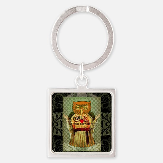 owl tell your fortune Square Keychain