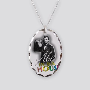 Abe In Da House Necklace Oval Charm