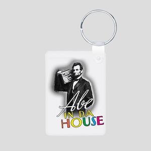 Abe In Da House Aluminum Photo Keychain