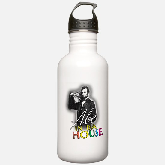 Abe In Da House Water Bottle