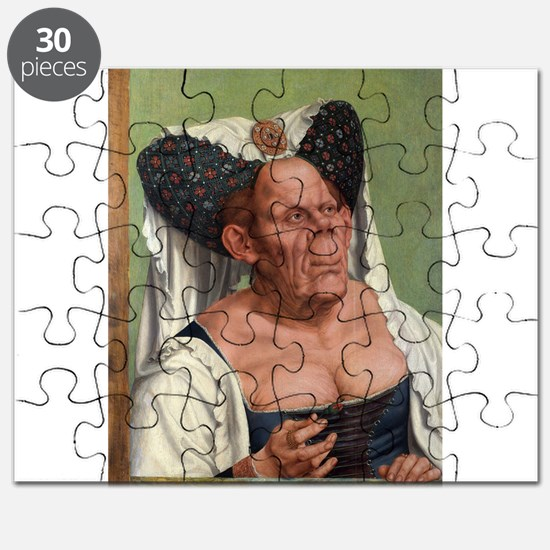 The Ugly Duchess - Quinten Massys - c 1520 Puzzle